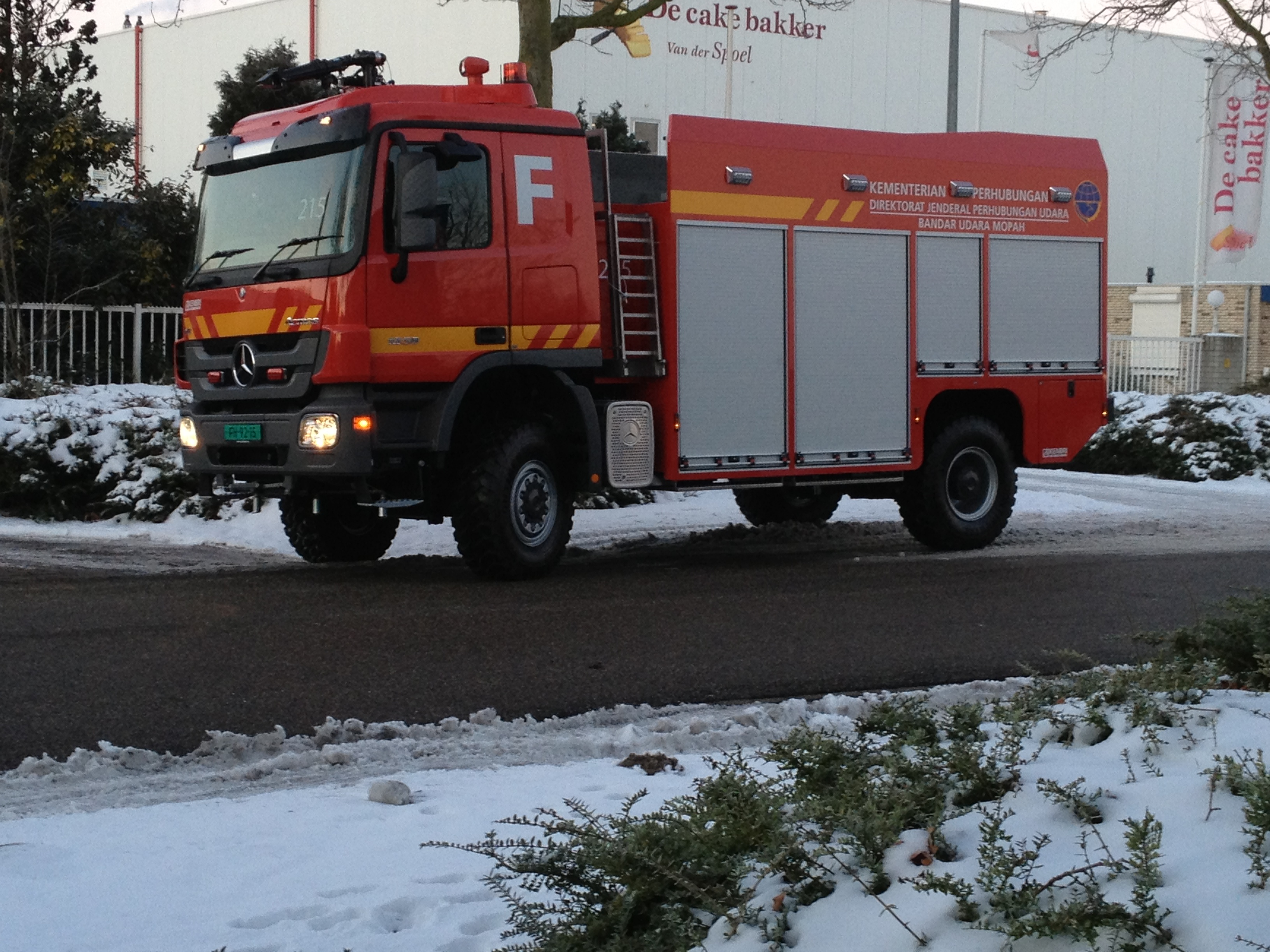 Brandweerwagen buiten