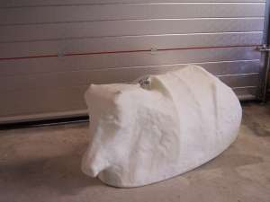 Rodeo bull cover for theme park
